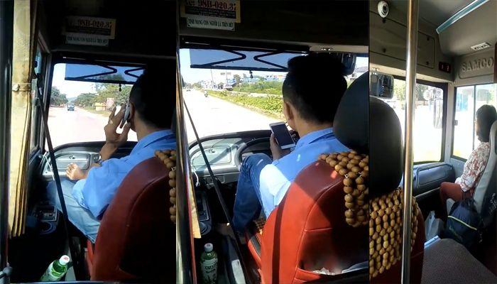 Báo VTC: Thót tim cảnh lái xe buýt bằng chân, tay cầm điện thoại chửi tục tĩu