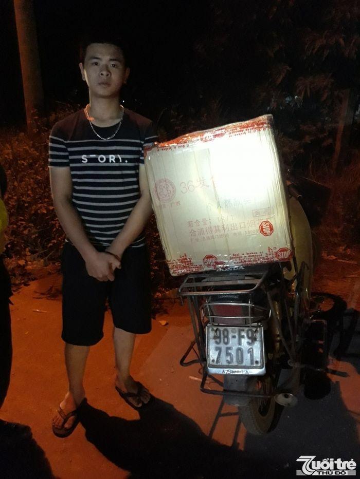 Báo Tuổi Trẻ TĐ: Bắc Giang: Bị bắt giữ vì vVận chuyển gần 30kg pháo