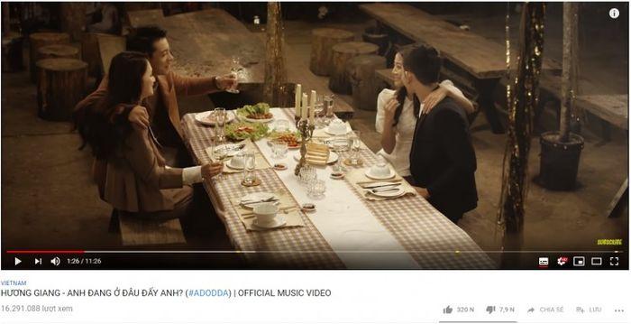 Hương Giang và chuyện đến MV Lyrics cũng không chịu 'buông tha' top trending Youtube