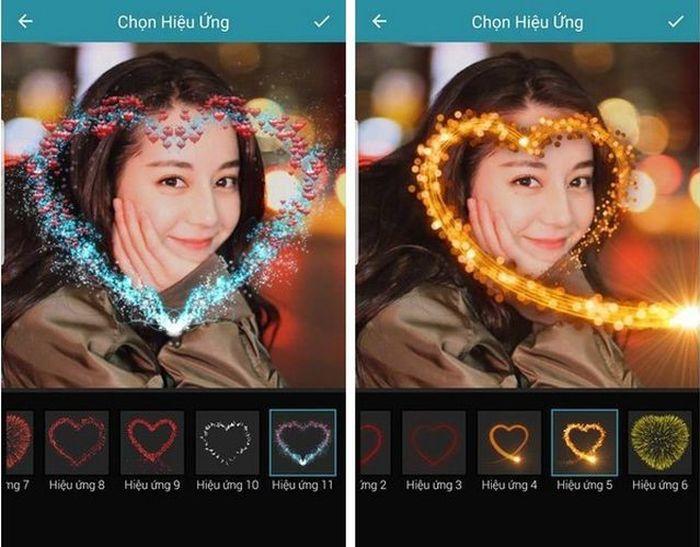 Ứng dụng tạo 'hiệu ứng tình yêu' tuyệt đẹp lên hình ảnh cho ngày Valentine