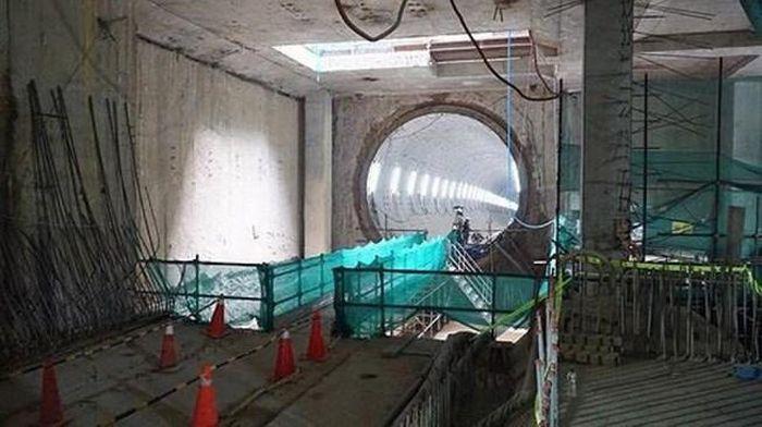 Nền tuyến metro số 1 bị lún do hạ nước ngầm đột ngột