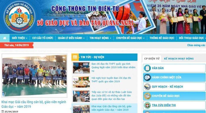 Báo Thời Đại: Tra cứu điểm thi tuyển sinh lớp 10 Quảng Ngãi năm 2019