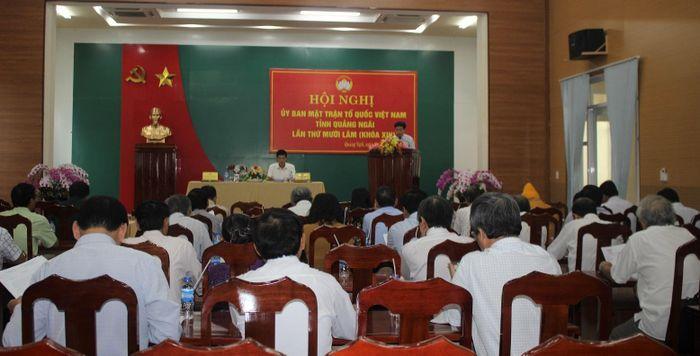 Báo Đại Đoàn Kết: Quảng Ngãi: Ủy ban MTTQ Việt Nam tỉnh bàn việc chuẩn bị Đại hội MTTQ lần thứ XIV