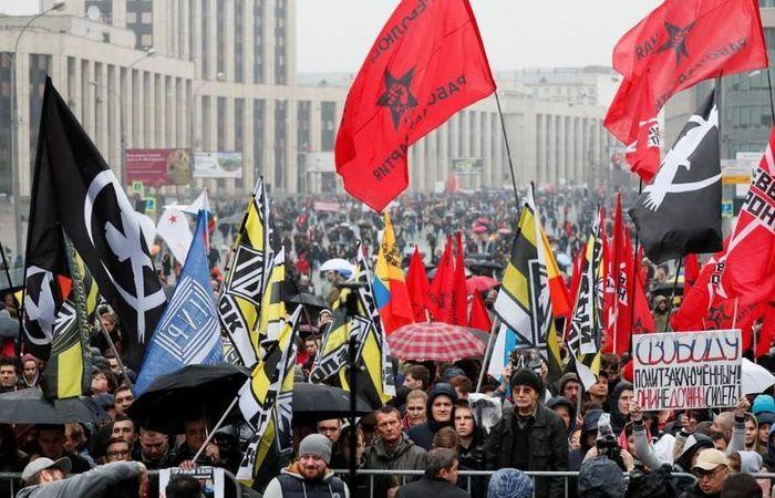 Moscow: 25.000 nguoi xuong duong bat chap mua lanh