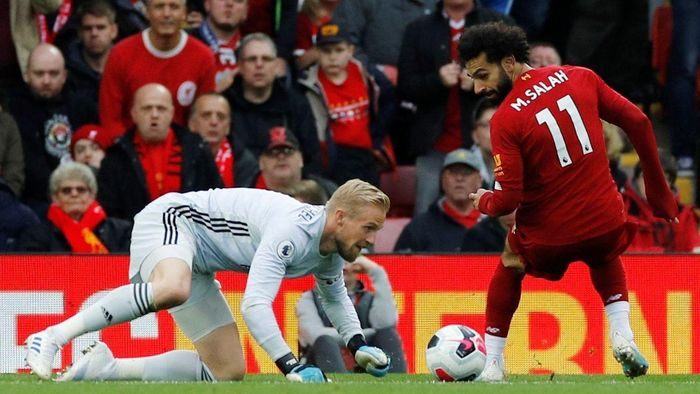 Image result for salah vs schmeichel