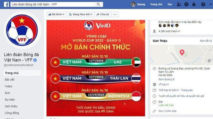 VFF thông báo kế hoạch bán vé các trận còn lại của ĐT Việt Nam trên sân nhà