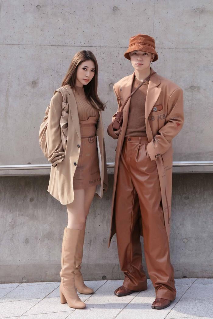 Báo SaoStar: Khổng Tú Quỳnh, Kelbin Lei diện đồ hợp tông trầm ấm, cựu trưởng nhóm HKT nổi bật với áo khoác hầm hố tại Seoul Fashion Week