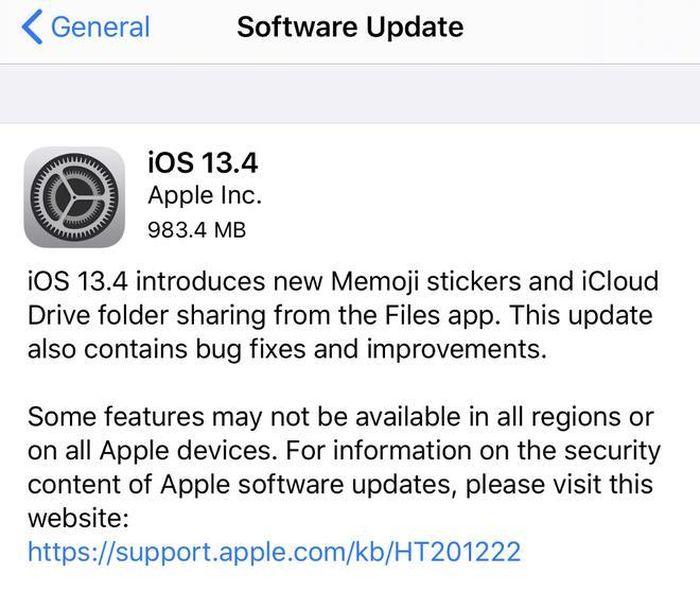 Thử nghiệm iOS 13.4.5 Beta 'vá' lỗi của người anh iOS 13.4
