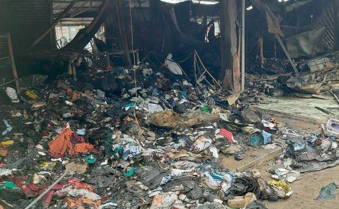 Cháy chợ Nhị Quý ở Tiền Giang, thiệt hại 5 tỷ đồng