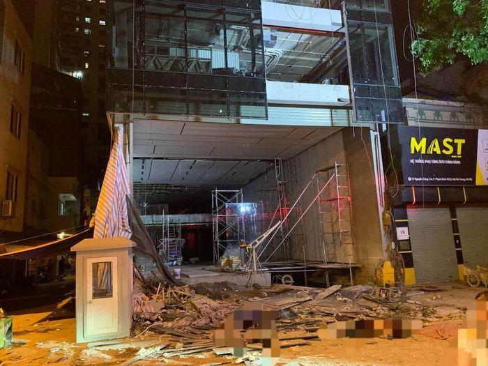 Nhân chứng kể lại giây phút kinh hoàng vụ gãy thang công trình khiến 4 người chết ở Hà Nội - anh 2