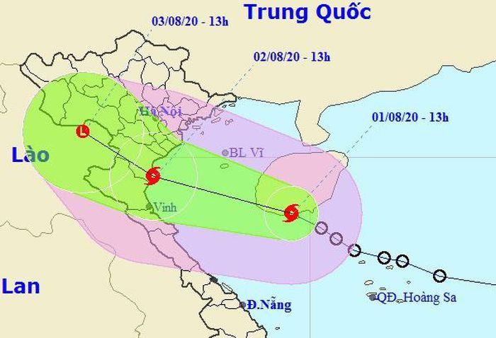 Áp thấp mạnh lên thành cơn bão số 2, lao vào đất liền các tỉnh Thái Bình-Nghệ An - anh 2
