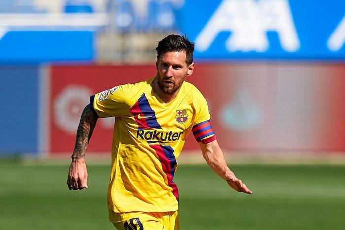 Messi đã trở lại tập luyện với Barca - ảnh 1.
