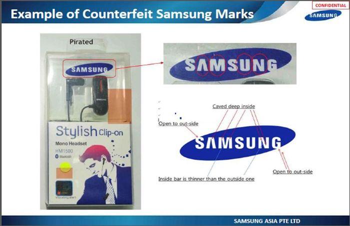 Phạt cửa hàng kinh doanh linh kiện giả mạo nhãn hiệu Apple, Samsung 70 triệu đồng