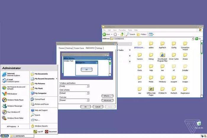 Windows XP từng có giao diện giống macOS