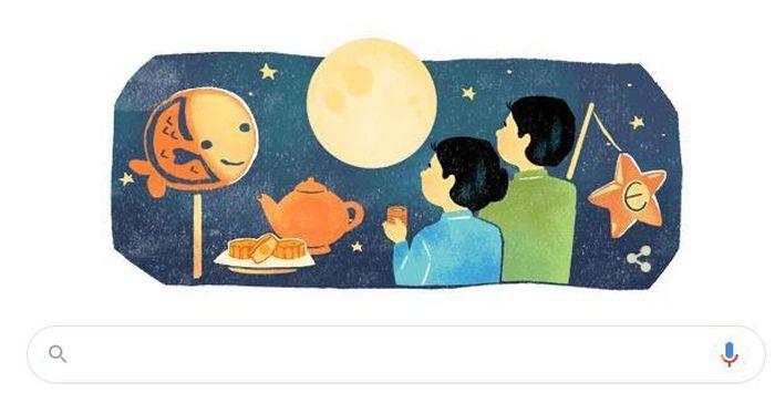Google đổi hình đại diện để mừng Tết Trung thu của Việt Nam và các nước châu Á