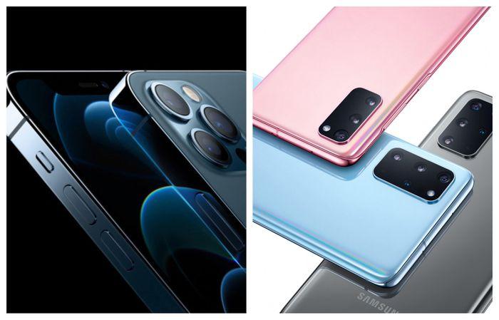 IPhone Pro 12 'so găng' Samsung Galaxy S20+