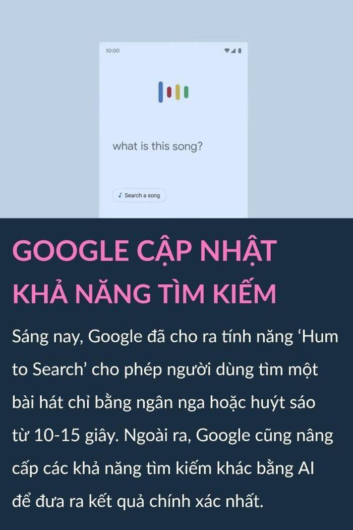 Google cho huýt sáo tìm nhạc, bảo vệ dữ liệu trên thương mại điện tử