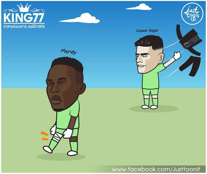 Ảnh chế: HLV Kepa níu chân Lampard giành 3 điểm