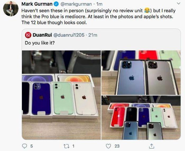 Lộ diện full màu các mẫu iPhone 12, phiên bản màu xanh blue bị chê tới tấp