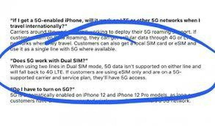 IPhone 12 không hỗ trợ 5G trên 2 SIM cùng lúc