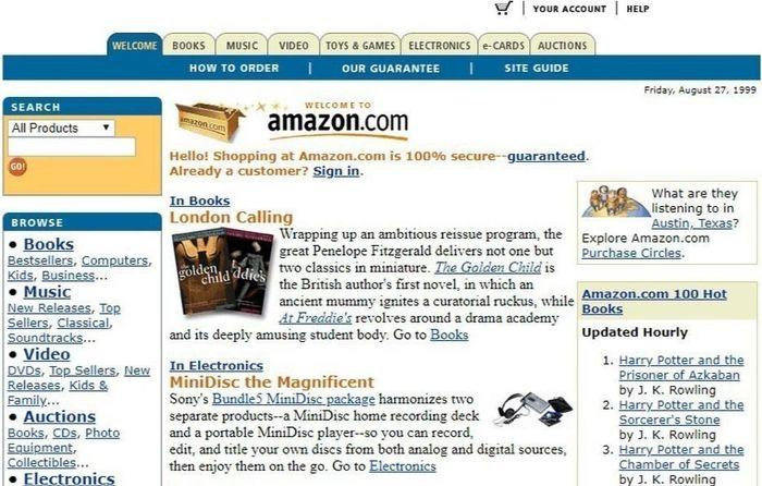 Apple, Google, Amazon trông như thế nào năm 1999?