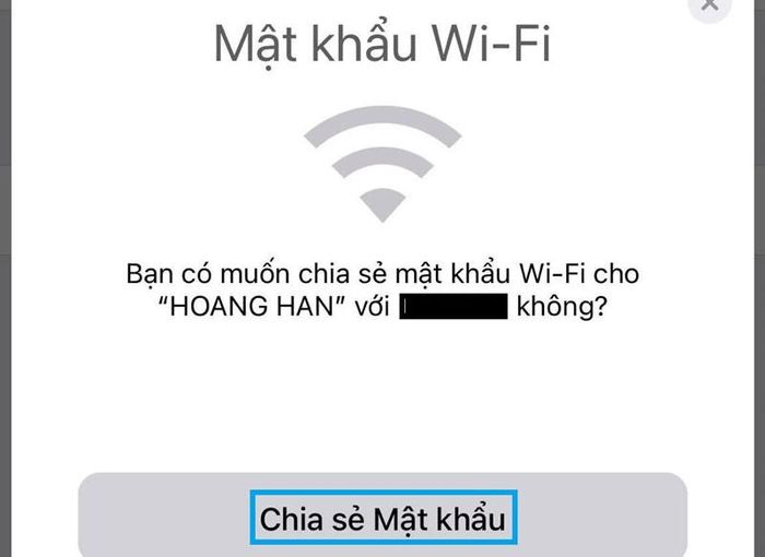 Hướng dẫn chia sẻ mật khẩu Wi-Fi trên iPhone
