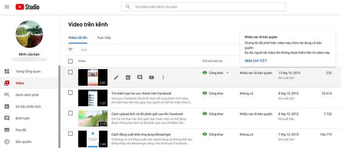 Cách kiểm tra video YouTube của bạn có dính bản quyền không