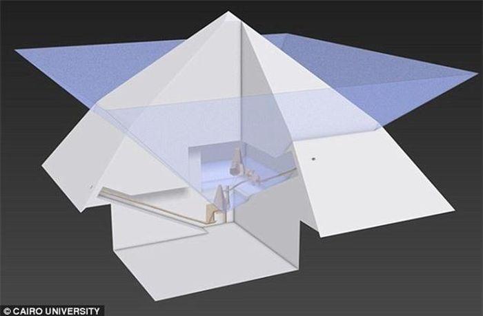 Hình ảnh 3D về cấu trúc bên trong kim tự tháp lần đầu được tiết lộ - ảnh 2.