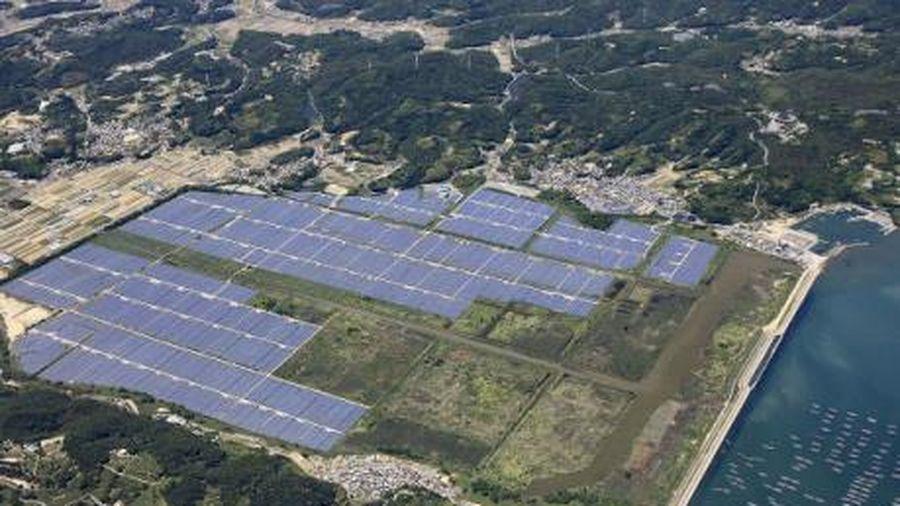Kết quả hình ảnh cho Khánh thành nhà máy điện mặt trời quy mô lớn ở miền Tây Nhật Bản