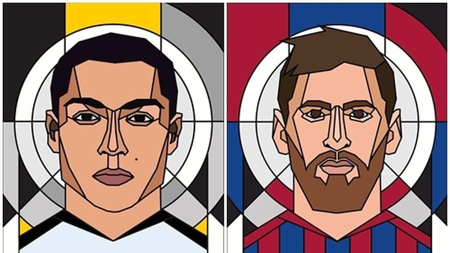 Những cầu thủ xuất sắc nhất 2018 qua bút vẽ: Ronaldo bỏ xa Messi