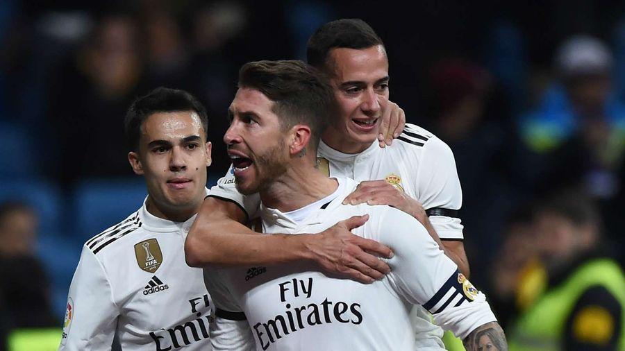 Ramos ghi bàn thứ 100 giúp Real giành chiến thắng trước Leganes