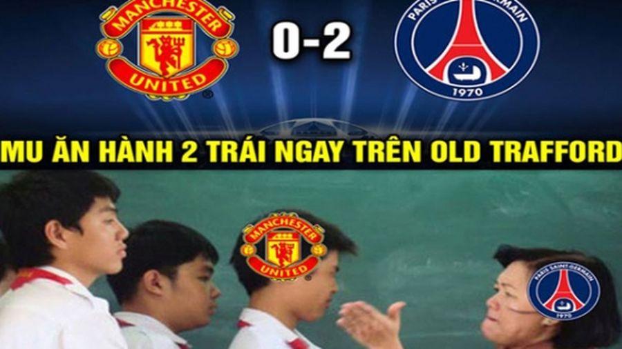 Chết cười với loạt ảnh chế trận thua choáng váng của MU trước PSG